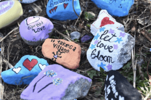 photo of colourful, hand-painted stones
