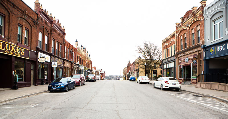 Downtown Port Perry streetscape.